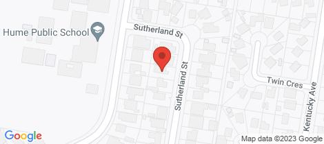 Location map for 355 Sutherland Street Lavington