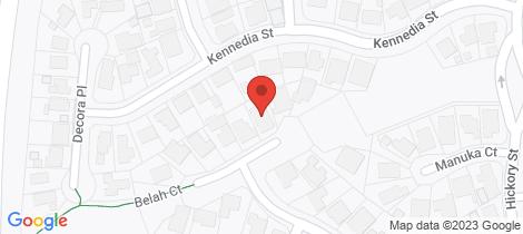 Location map for 10 Belah Court Thurgoona