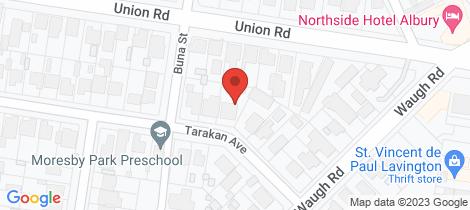Location map for 1/394 Tarakan Avenue North Albury