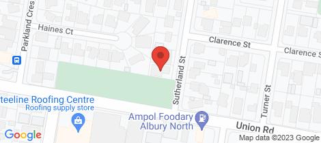 Location map for 307 Sutherland Street Lavington