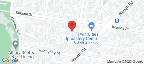 Location map for 423 Kokoda Street North Albury