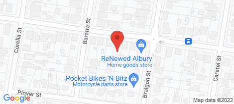 Location map for 289 Wantigong Street North Albury