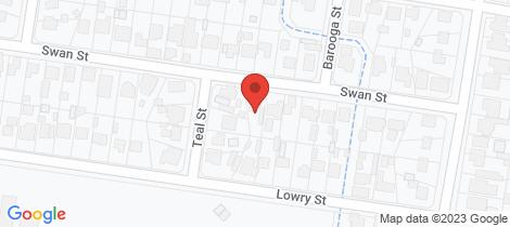 Location map for 233 Swan Street North Albury