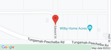 Location map for 1 Edward Street Wilby