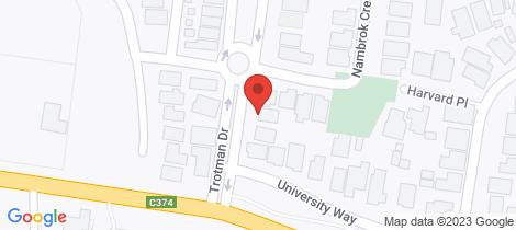 Location map for 6 Trotman Drive Wangaratta