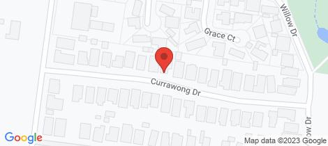 Location map for 17 Currawong Drive Wangaratta