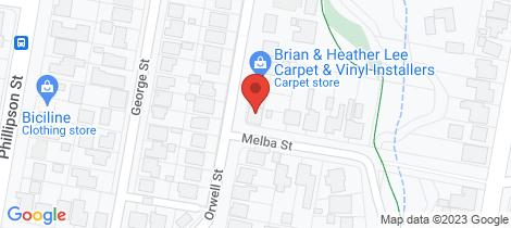 Location map for 19 Orwell Street Wangaratta