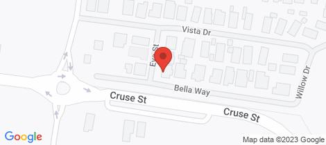 Location map for 5 Eva Place Wangaratta