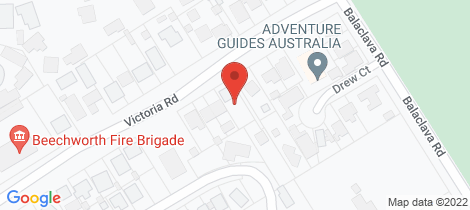 Location map for 28 Victoria Road Beechworth