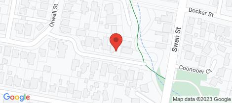 Location map for 4 Warwillah Avenue Wangaratta