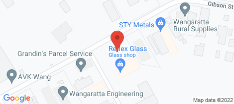 Location map for 1 Sinclair Drive - Complete Security Self Storage Wangaratta