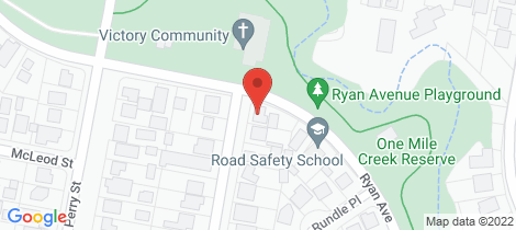 Location map for 1 Maxwell Street Wangaratta