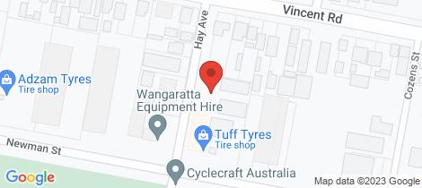 Location map for 11 Hay Avenue Wangaratta