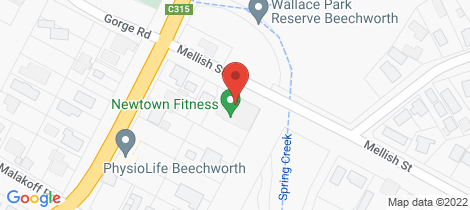 Location map for 4 Mellish Street Beechworth
