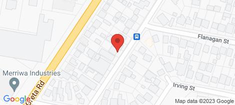 Location map for 16 Higgins Street Wangaratta