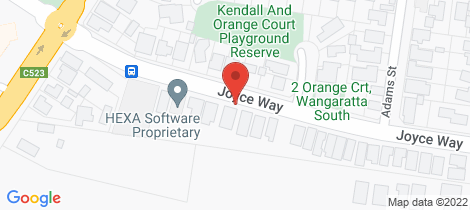 Location map for 37 Joyce Way Wangaratta