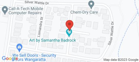 Location map for 14 Dianella Street Wangaratta