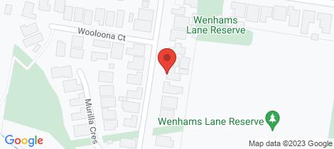 Location map for 9 Milnes Creek Drive Wangaratta