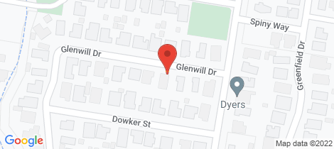Location map for 21 Glenwill Drive Epsom
