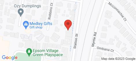 Location map for 121 Station Street Epsom