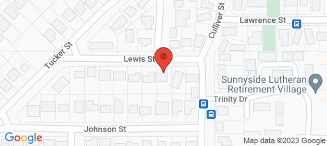 Location map for 13 Lewis Street Horsham
