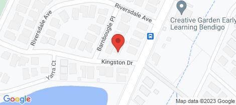 Location map for 4 Kingston Drive Eaglehawk