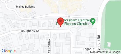 Location map for 1/8 Dougherty Street Horsham