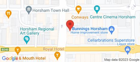Location map for 83 Firebrace Street Horsham