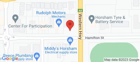 Location map for 36 Hamilton Street Horsham