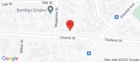 Location map for 6 Church Street Eaglehawk