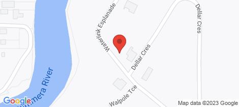 Location map for 34 Waterlink Esplanade Horsham
