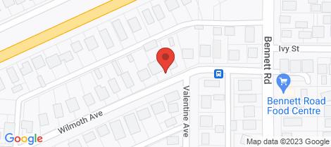 Location map for 12 Wilmoth Avenue Horsham