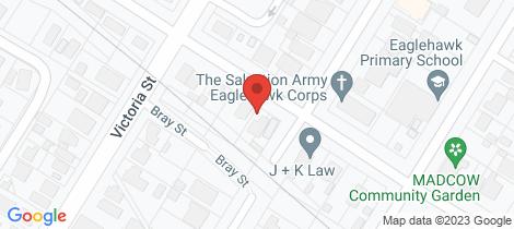 Location map for 16 Panton Street Eaglehawk