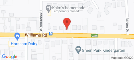 Location map for 19 Williams Road Horsham