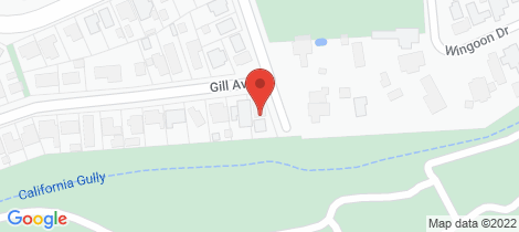 Location map for 98 Gill Avenue California Gully