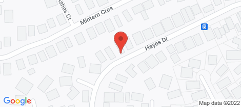 Location map for 30 Hayes Drive Horsham