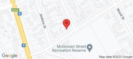 Location map for 7 McGowan Street California Gully