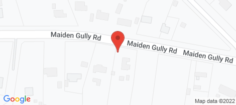 Location map for 160 Maiden Gully Road Maiden Gully