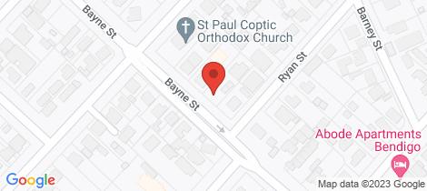 Location map for 34 Bayne Street Bendigo
