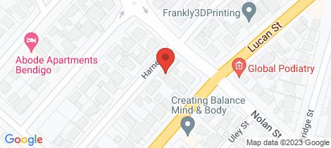 Location map for 18 Harney Street North Bendigo