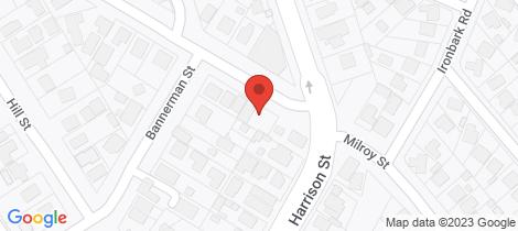 Location map for 29 Milroy Street Bendigo