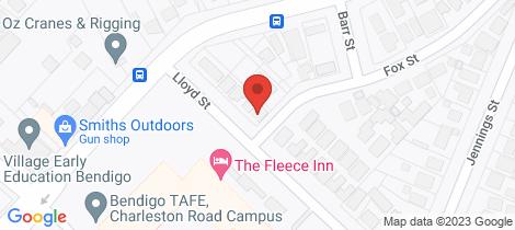 Location map for 9 Lloyd Street East Bendigo