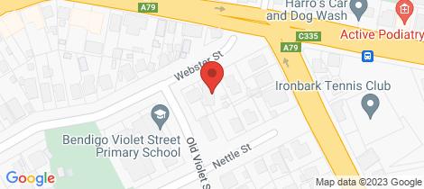 Location map for 5 Webster Street Ironbark