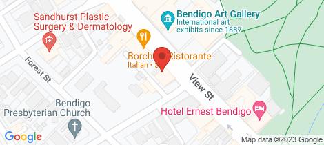Location map for 89-91 View Street Bendigo