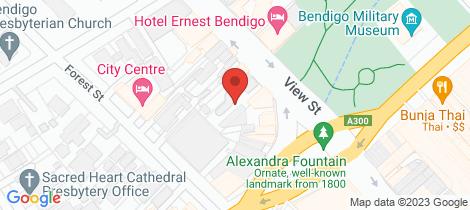 Location map for 2/27 View Street Bendigo
