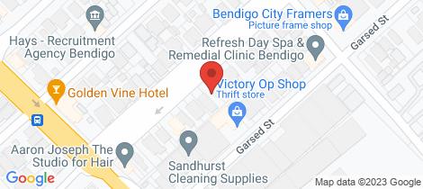 Location map for 109 Wills Street Bendigo