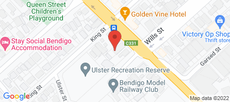 Location map for 29 Myrtle Street Bendigo