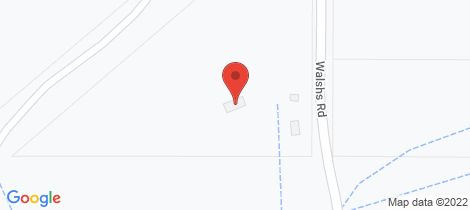 Location map for 745 Walsh's Road, Mckenzie Creek