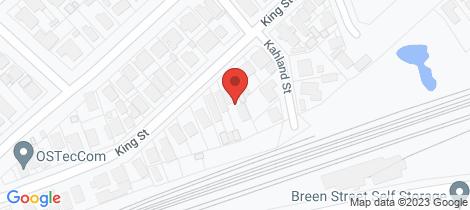 Location map for 185 King Street Bendigo