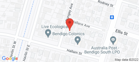 Location map for 2 Dungey Avenue (off Hallam Street) Flora Hill
